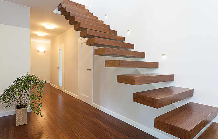 Floating Staircase Renovation Hale