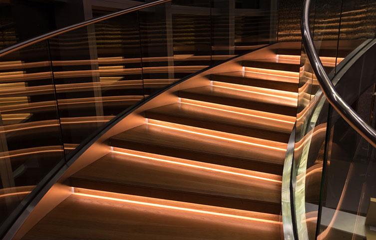 LED Lighting Staircase Renovation Bury