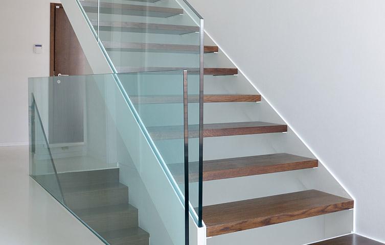 Seamless Glass Staircase Renovation Bury